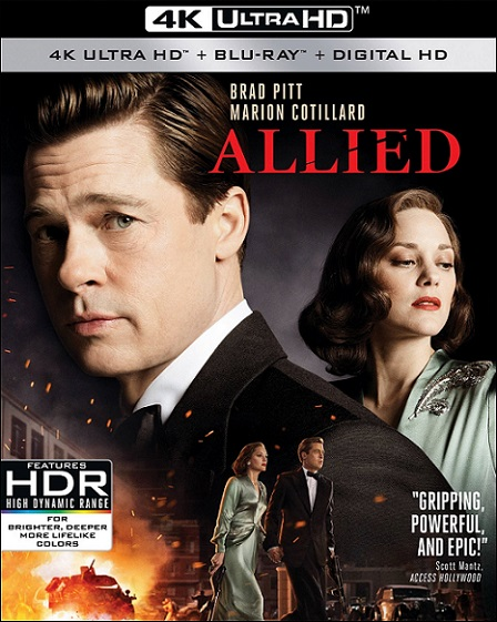 Allied 4K (Aliados 4K) (2016) 2160p 4K UltraHD HDR BluRay 23GB mkv Dual Audio DTS-HD 5.1 ch