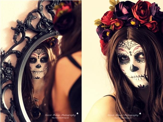 Dia De Los Muertos Makeup Sugar Skull Makeup La Catrina