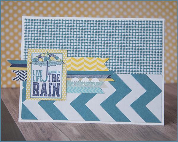 открыточка с сапожками и зонтом, открытка бирюза, живи танцуя под дождем, открытка танец под дождем, открытка зонт