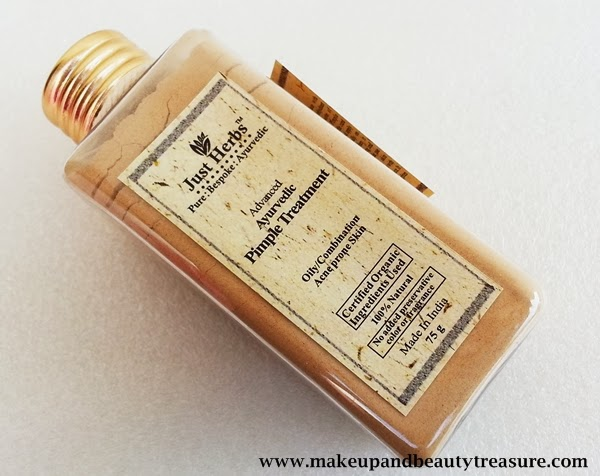 Just Herbs Advanced Ayurvedic Pimple Treatment Review