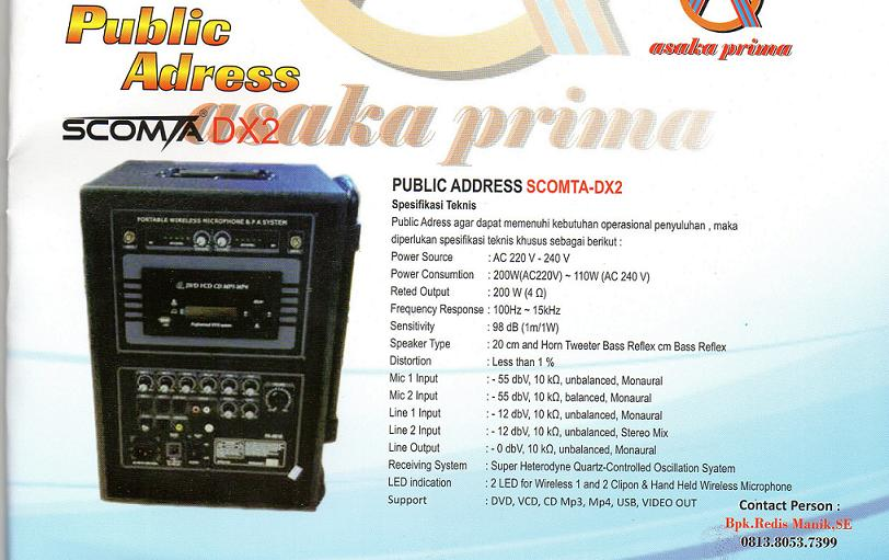 PUBLIC-ADDRESS,distributor public address, pengadaan public address dakbkkbn 2013, public address, public-address dakbkkn, sarana public address,PUBLIC ADDRESS BKKBN,DAK BKKBN 2013,SCOMTA DX2,