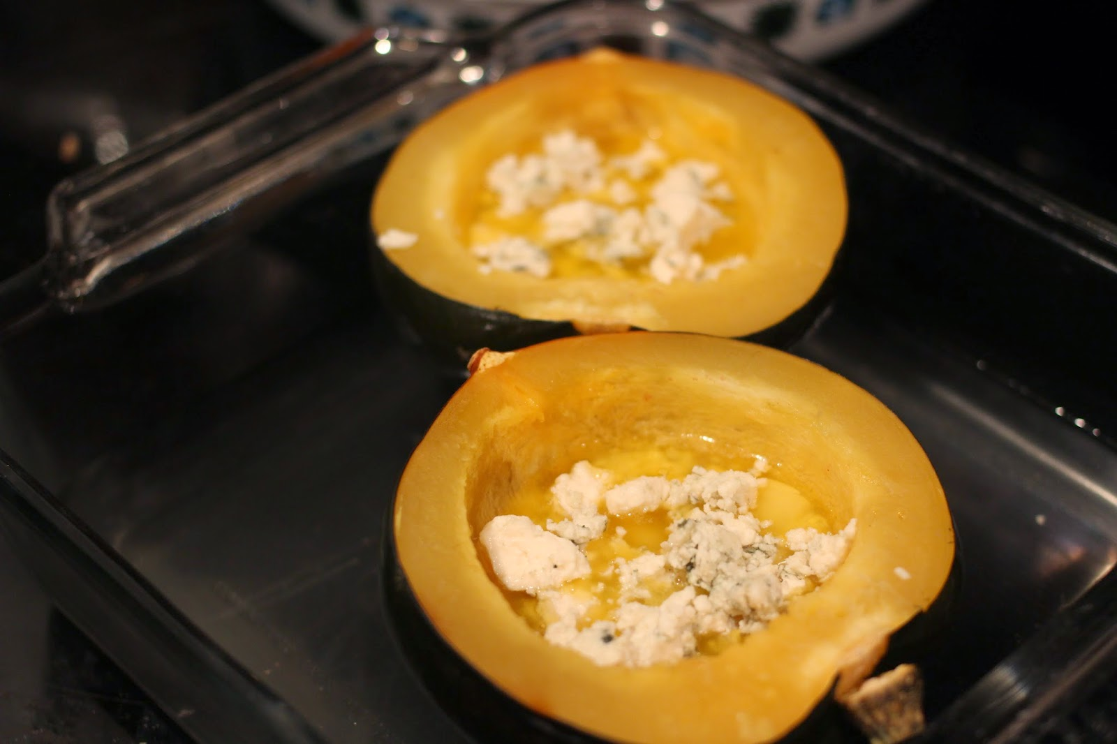 garlic and blue cheese roasted acorn squash ingredients acorn squash ...