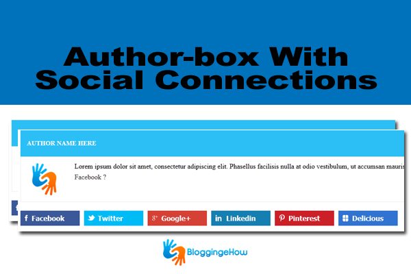 author box with social media connects