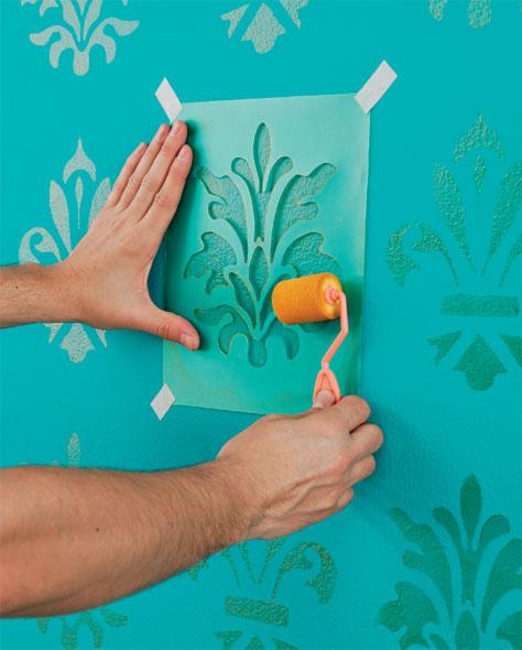 decoracao de interiores paredes pintadas:Meu Palácio de 64m²: Stencil para Decoração de Paredes