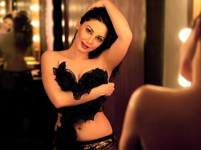 Hot Minissha Lamba Breast Exposed   Holding Tight her Boobs
