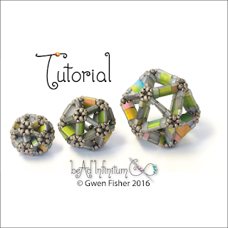 Tila Icosahedron Beaded Bead