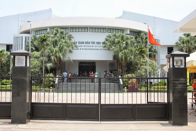The main entrance to Museum of Ethnology in Hanoi, Vietnam