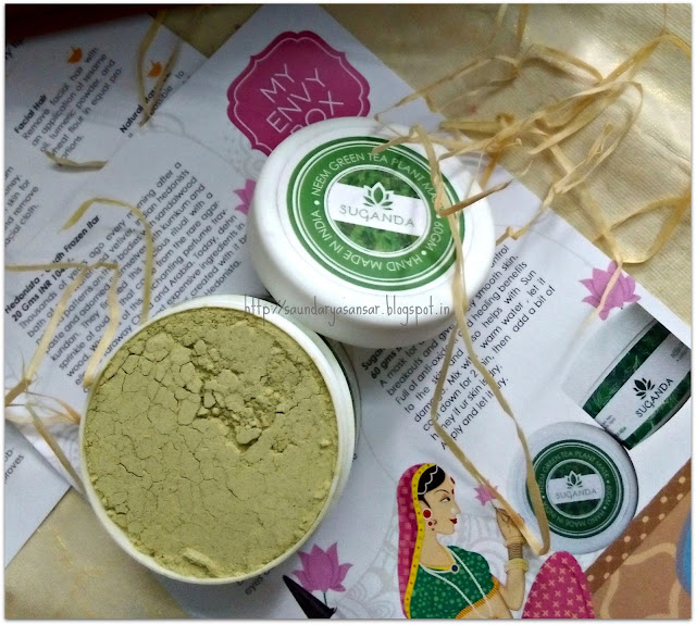 My-Envy-Box-Aug-2015-Suganda-Neem-Green-Tea-Mask