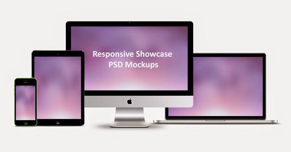Free Responsive Showcase PSD Mockups