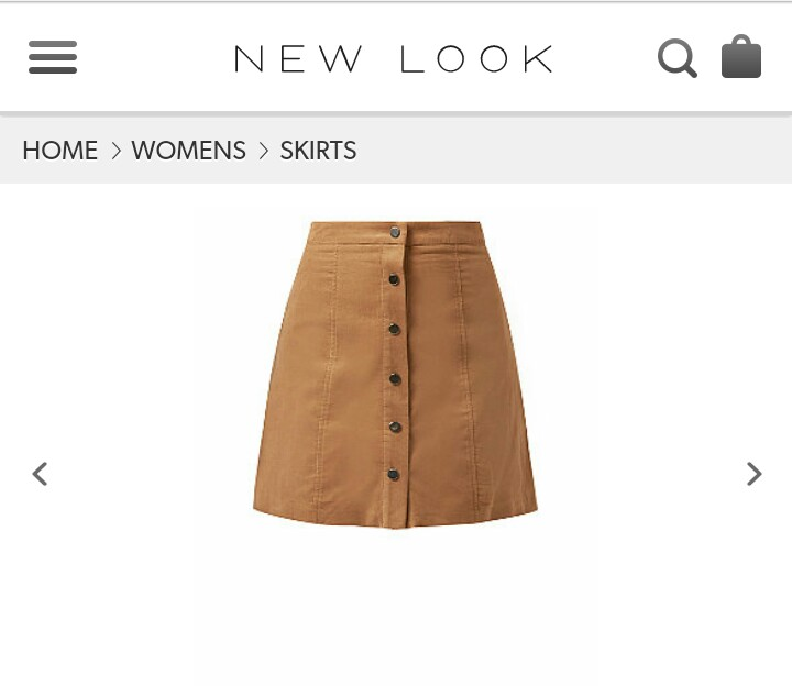 http://www.newlook.com/shop/womens/skirts/camel-button-front-cord-mini-skirt-_339943417