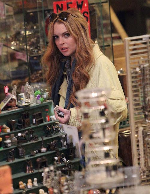 Lindsay Lohan in a Vintage Junk Shop in Brooklyn
