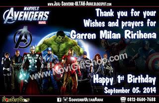 Thanks Card Avengers Garren Sample Tema Design Thanks Card (Kartu Ucapan Terima Kasih)