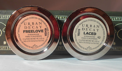 Urban Decay Eyeshadows in Freelove & Laced
