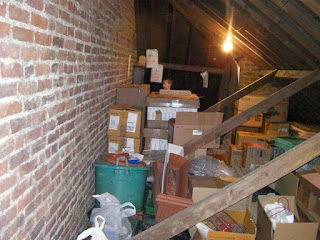 loft attic storage cardboard boxes