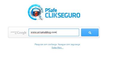 IMAGEM: Tela do site Click Seguro