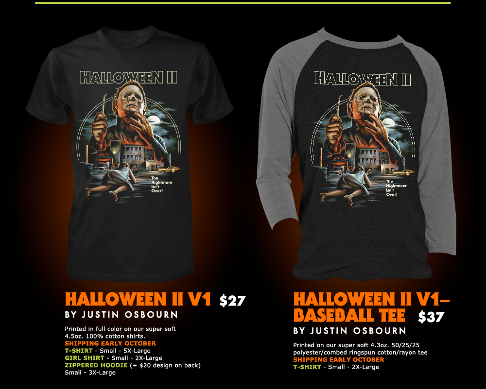 The Horrors of Halloween: Fright Rags HALLOWEEN II and III T-shirt ...