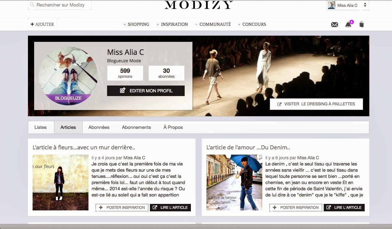 "Modizy : ""Das"" site Personnal Shopper  !"