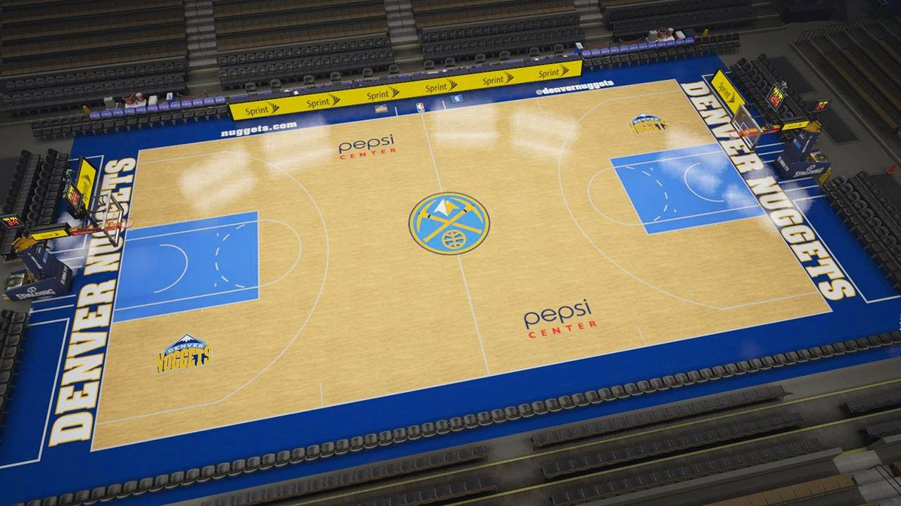 Nuggets new court in NBA 2K15