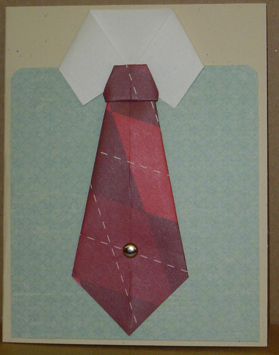 Как сделать открытку галстук из бумаги 49