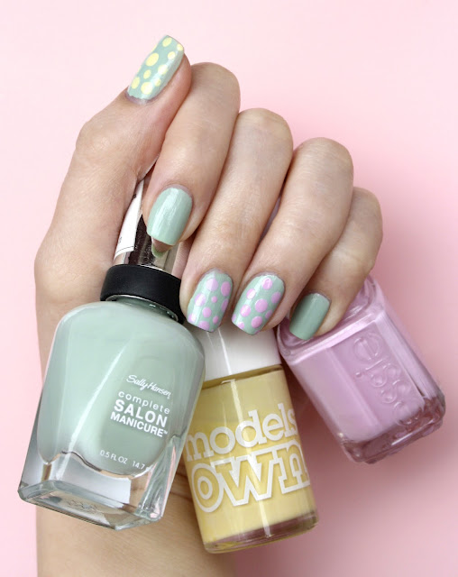easter nail art pastel nail polish