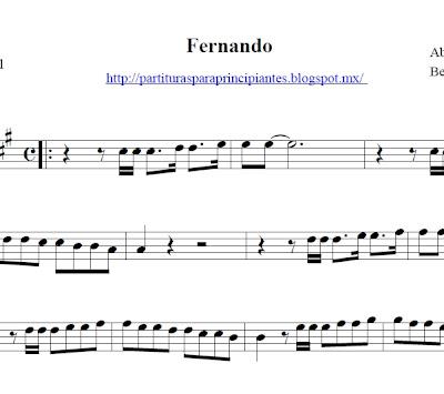 partitura saxo, partituras de abba saxo