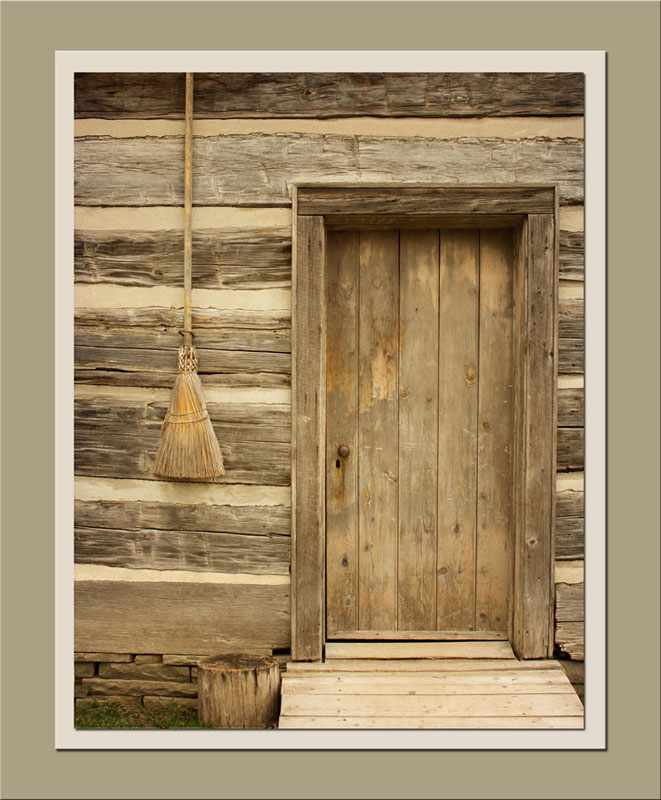 Door of broom maker's shop at Black Creek Pioneer Village.