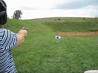 Shooting a computer with a hand gun