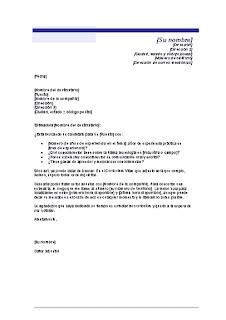 Carta de presentación para un currículo no solicitado