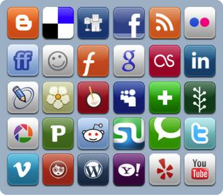 Botones sociales en los sitios web