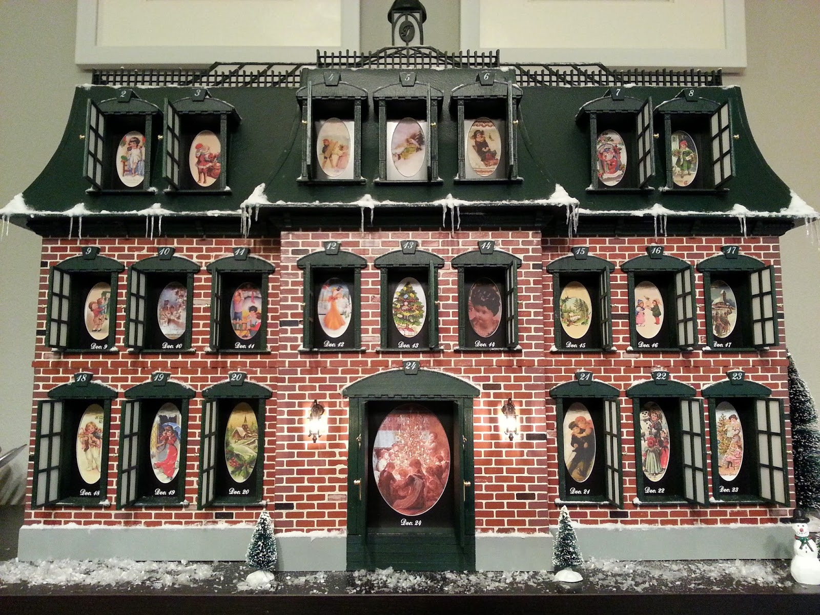 due to the amount of detail and hand built nature of the christmas advent house production numbers are extremely limited and build reservation requests