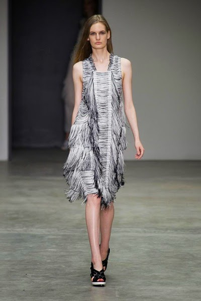 Calvin Klein 2014 SS Grey Tassels Cocktail Dress