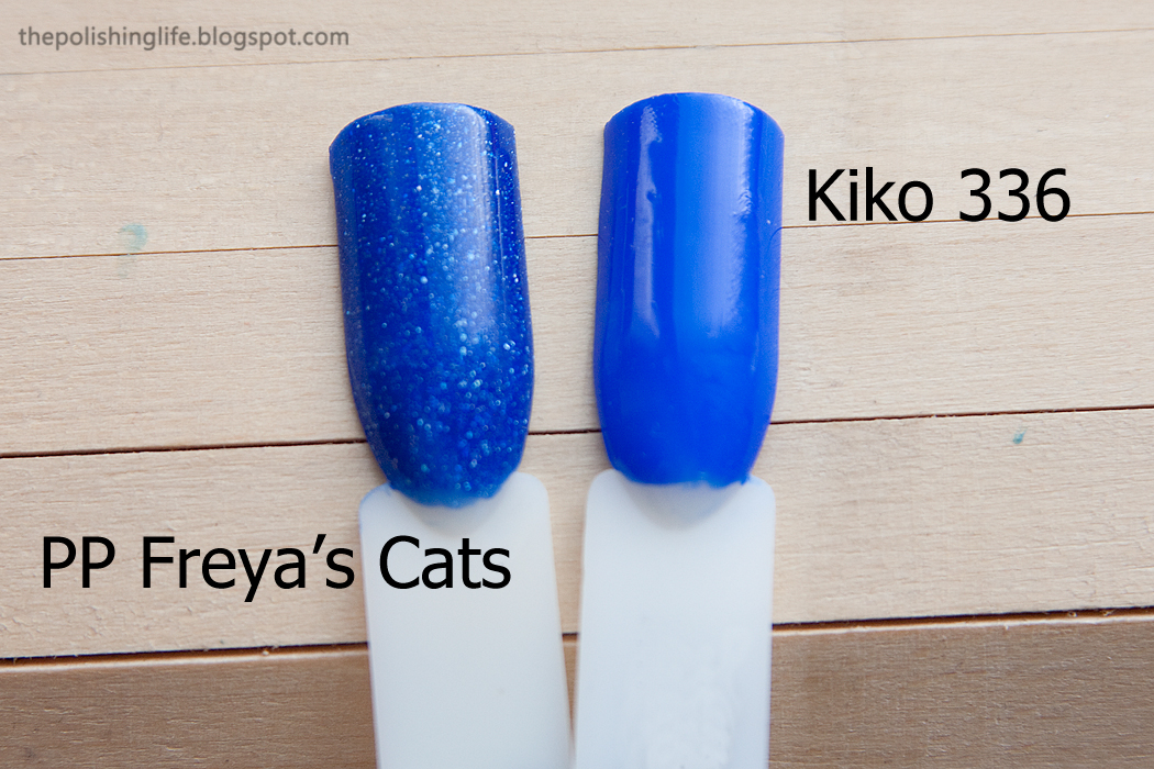 Comparison between Picture Polish Freya's Cats and Kiko 336
