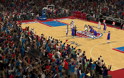 NBA 2K13 Detroit Pistons Court Stadium Crowd Fix