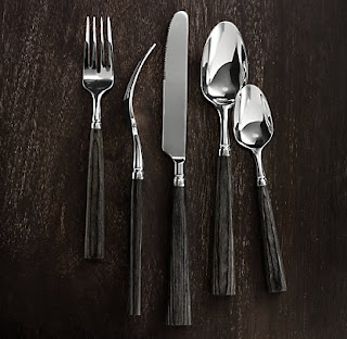 Spiral style restoration hardware now offers tableware - Wrought iron flatware ...