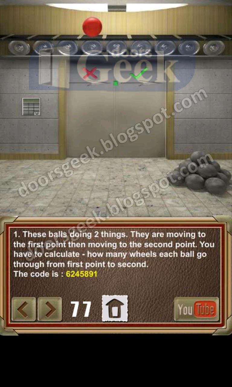 100 doors of revenge level 77 doors geek for 100 door of revenge