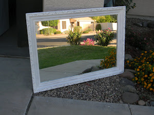 White Shabby Chic Mirror  *SOLD*