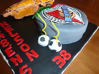 Bolo decorado - Benfica