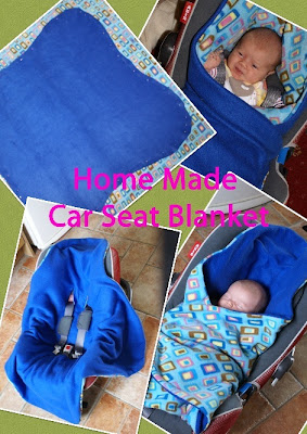 Home Made Reversible Car Seat Blanket