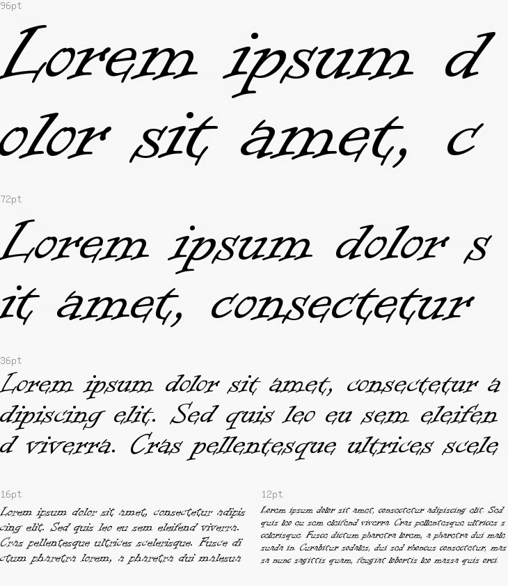 sample of informal roman font used for an ink coverage test
