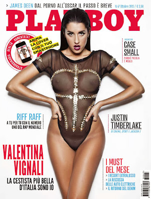Playboy Italy cover girl Valentina Vignali hot photoshoot Ottobre 2013
