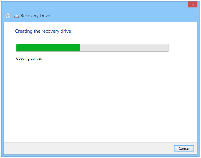 recovery drive full windows 8.1
