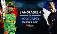 Bangladesh beat Scotland by six wickets ending its World Cup chances