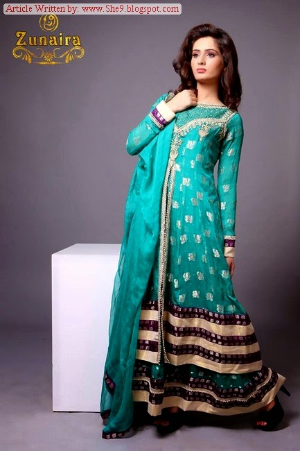 Zunaira Lounge Winter Collection 2014-15