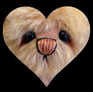 Sneak preview of an Artist mohair bear by Laura Lynn