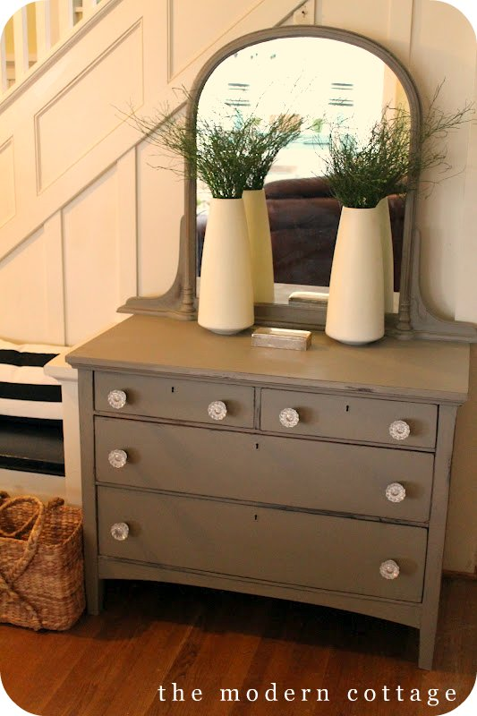 chest with crystal knobs hardware annie sloan chalk paint idea