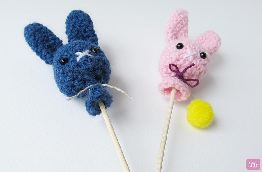 Amigurumi Rabbit Face : {Amigurumi Bunny Pops} - Little Things Blogged