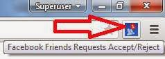 friend requests icon in chrome browser
