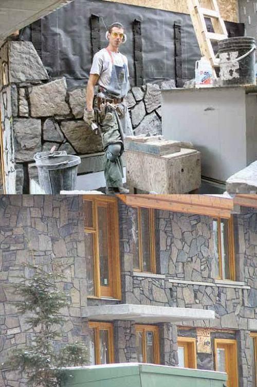 konstruksi bangunan gedung penutup dinding
