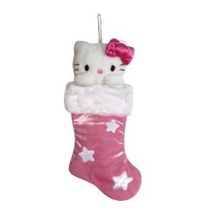 Hello Kitty Christmas stocking hanging ornament for Christmas decoration