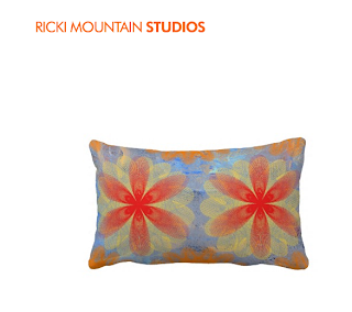 Throw Pillow -Floral Art Pillow-Art by Ricki